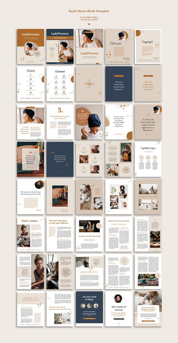 eBook / CANVA, INDD / Kayla in Magazine Templates - product preview 1
