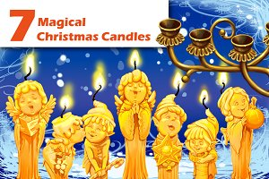Seven magical Christmas candle