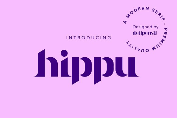 Hippu Medium Font in Serif Fonts - product preview 7