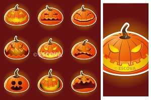 Halloween Pumpkin Character Emoticon