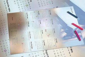 Calendar 2016 Template v1 - A3