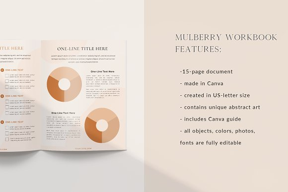 Mulberry Workbook | CANVA in Magazine Templates - product preview 1