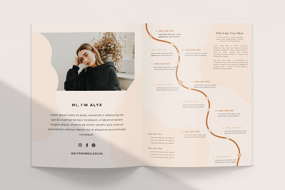 Mulberry Workbook | CANVA in Magazine Templates - product preview 3
