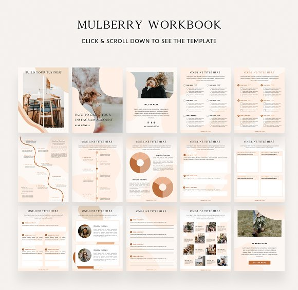 Mulberry Workbook | CANVA in Magazine Templates - product preview 6