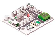 Big factory isometric composition