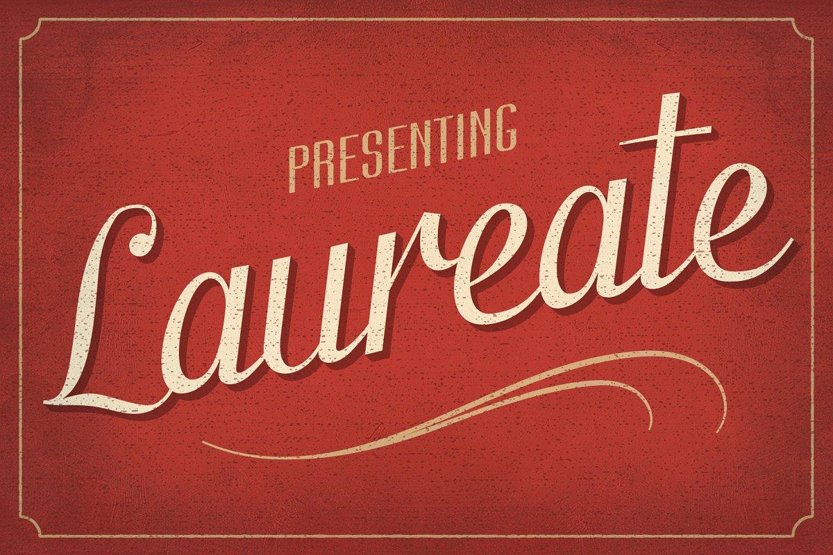 Laureate Vintage Script Font