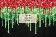 Christmas Glitter Drips Clipart