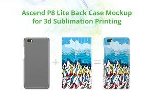 Ascend P8 Lite 3d Case Mock-up
