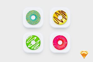Donuts_Icons UI ( Part #1)