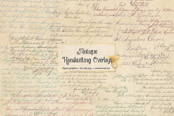 Antique Handwriting Overlays in Illustrations - product preview 3