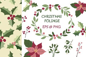 Christmas foliage clipart