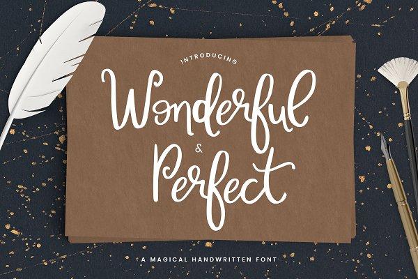 Wonderful & Perfect | A Script Font
