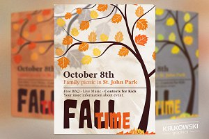 Fall Time Picnic Flyer