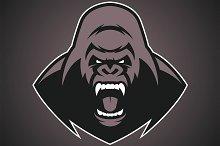 Angry gorilla logo