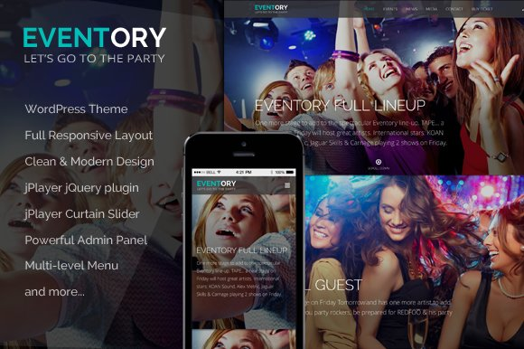 Eventory - Events WordPress Theme