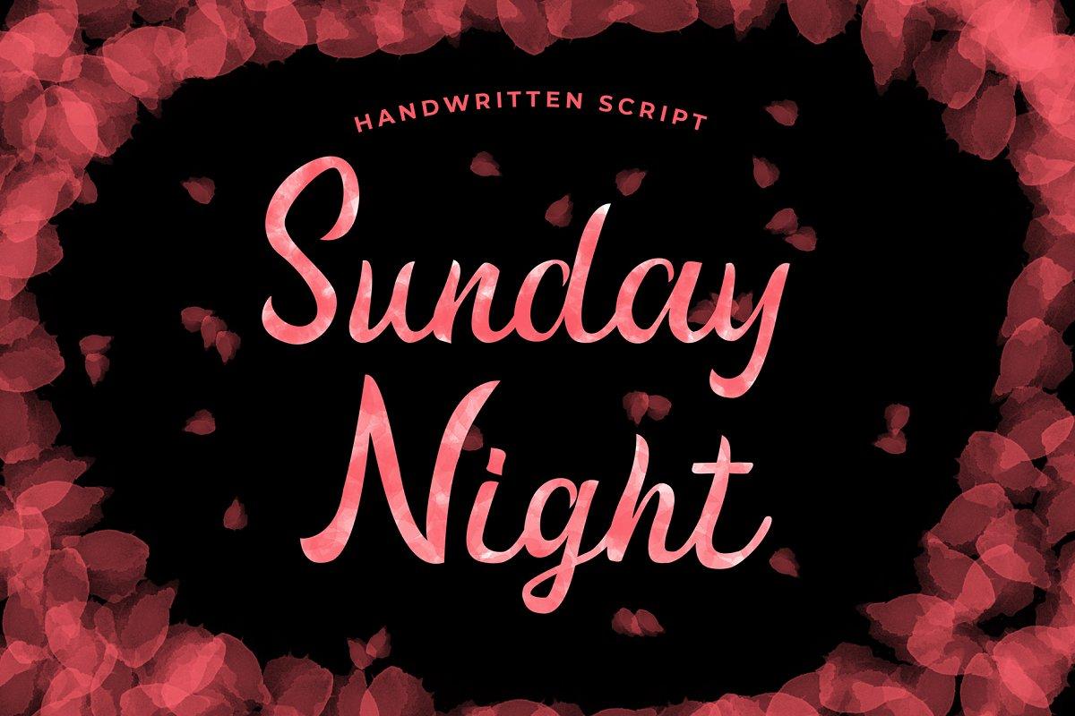 Sunday Night Handwritten Script Font