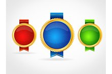 Medals Template Set. Vector