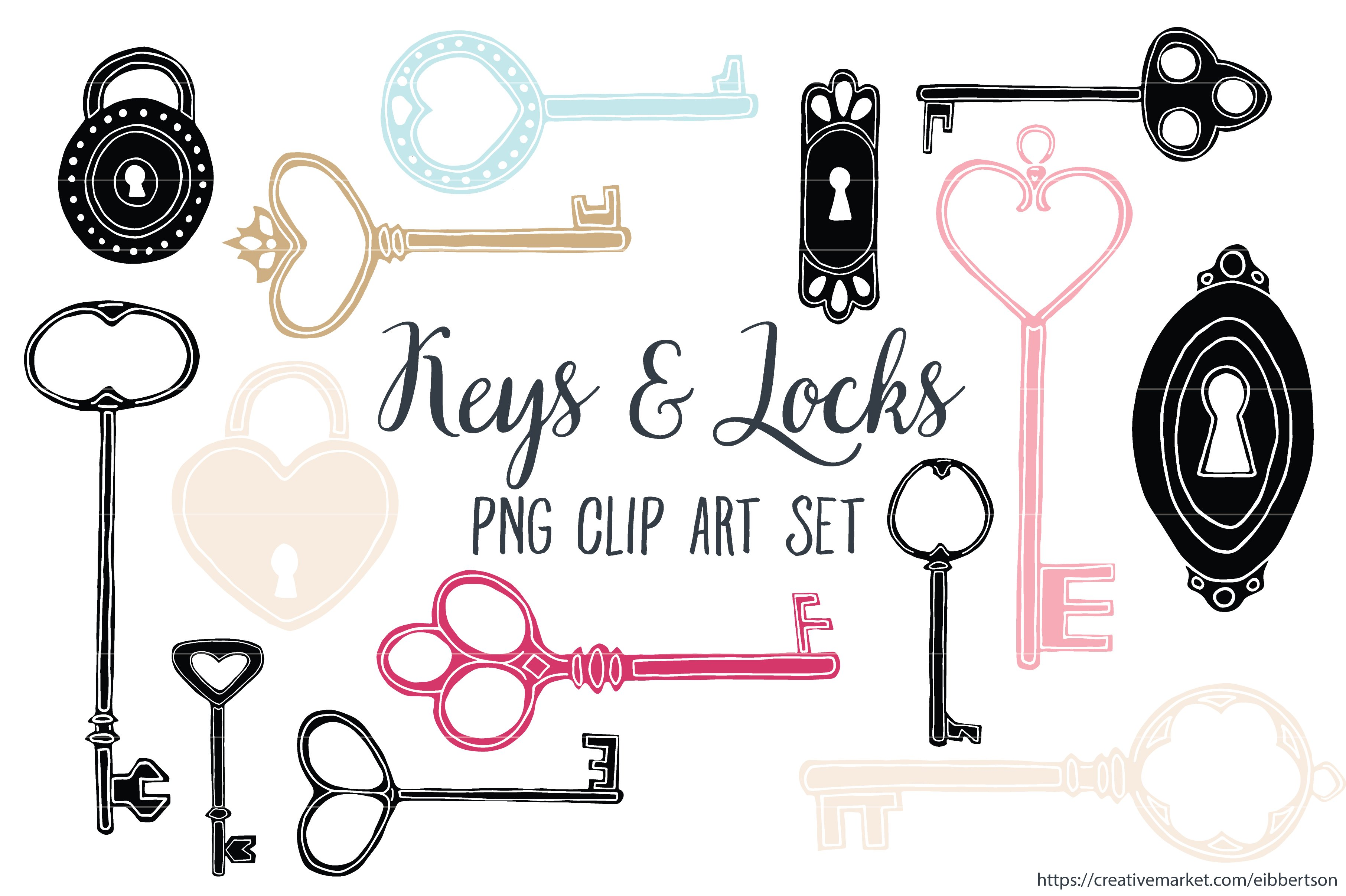 Skeleton key clip art Photos, Graphics, Fonts, Themes, Templates ...