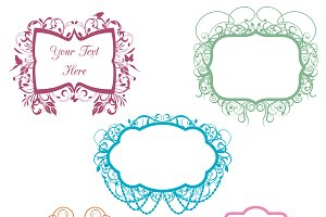 Chandelier Frames Photoshop Brushes