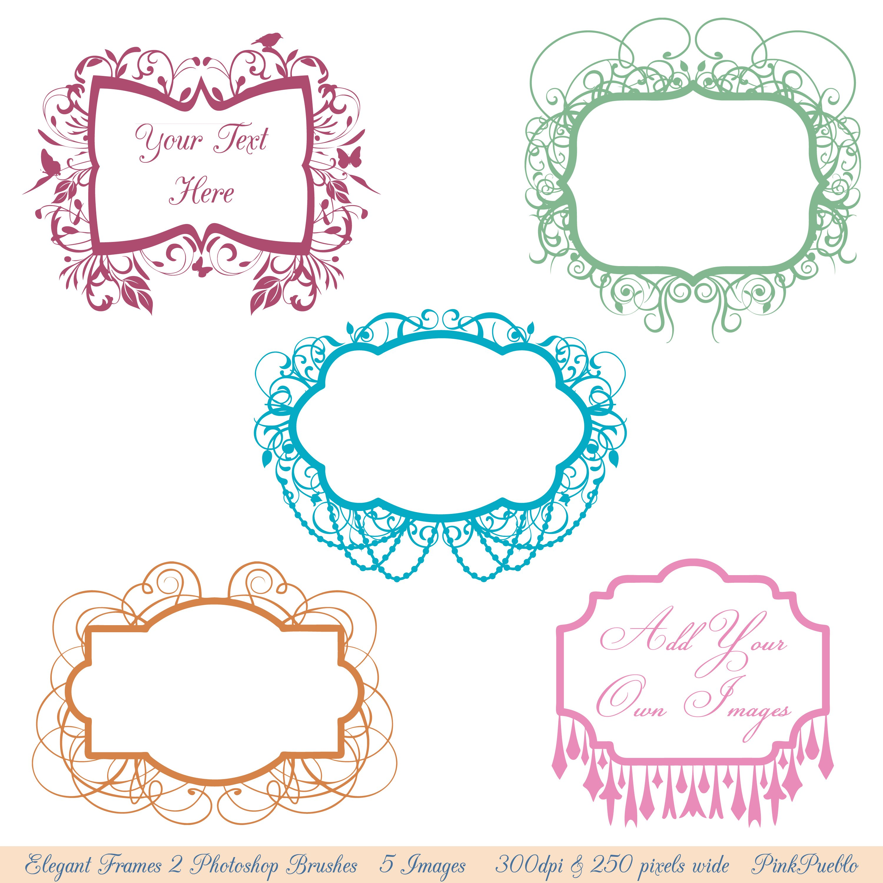 Chandelier Frames Photoshop Brushes ~ Brushes ~ Creative Market