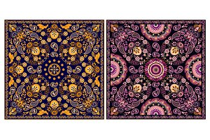 Design for shawl, bandanna, pillow