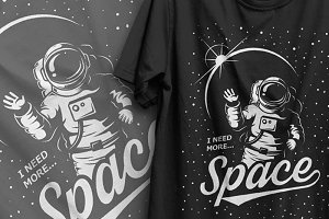 Vector t-shirt design. Space theme.