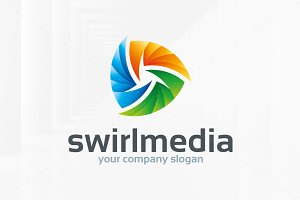 Swirl Media Logo Template