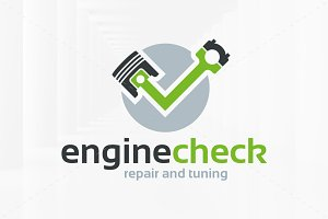 Engine Check Logo Template