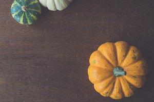 The three pumpkins