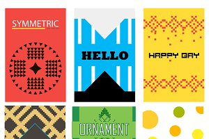 Vector abstract card templates