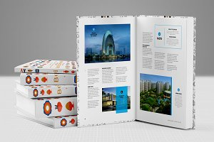 Book Magazine Brochure Mock up 2