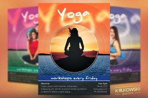 Yoga Workshops Flyer Template
