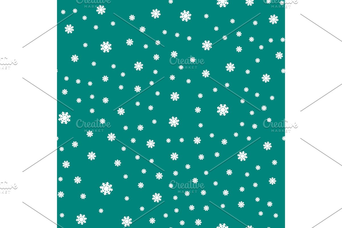 Seamless Pattern Snowflakes Endless