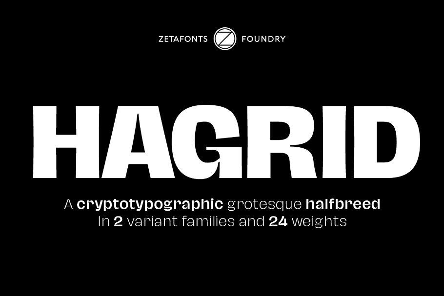 Hagrid 24 fonts + 4 variables