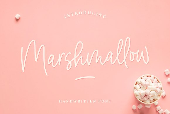 Marshmallow Handwritten Font in Handwriting Fonts - product preview 2
