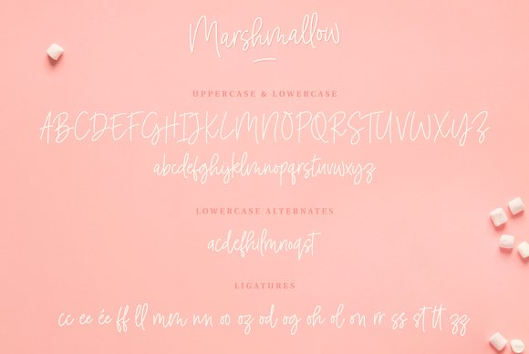 Marshmallow Handwritten Font in Handwriting Fonts - product preview 6