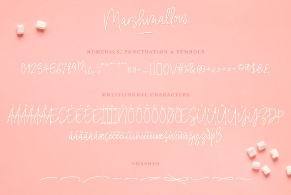Marshmallow Handwritten Font in Handwriting Fonts - product preview 7
