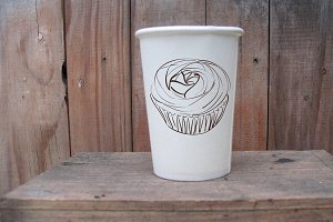 Coffee paper cup mockup