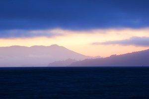 marin headlands sunset background