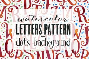 Watercolor Letters Patterns