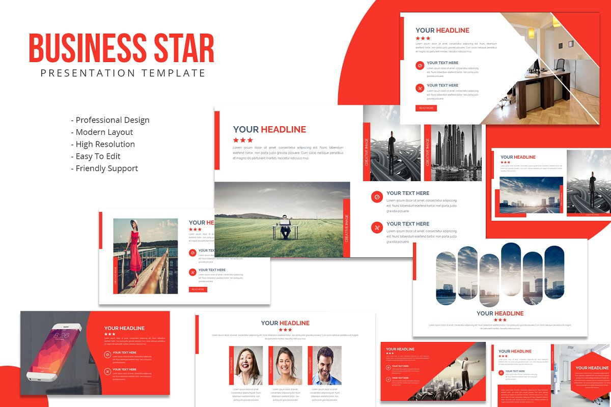 Business Star Powerpoint Template