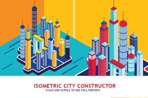 Isometric city constructor set
