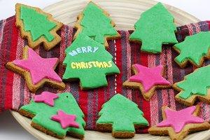 Handmade christmas cookies