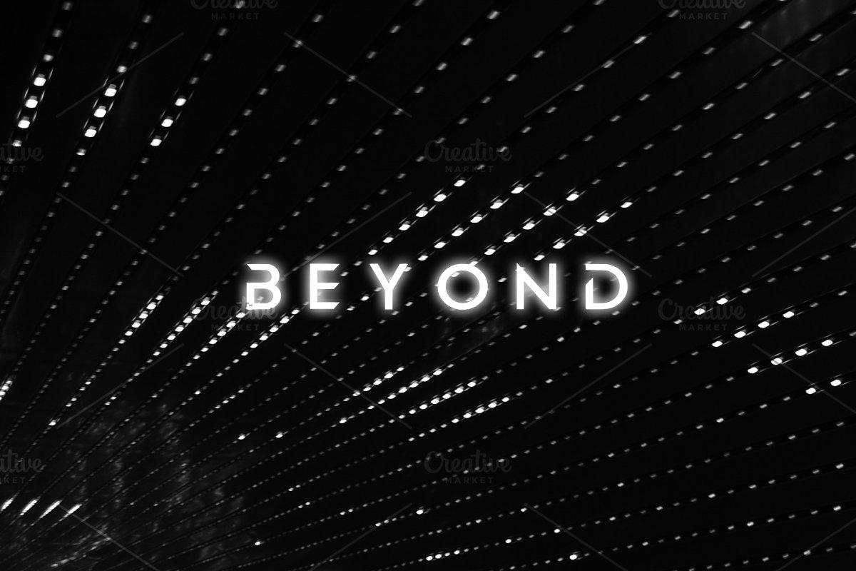 BEYOND - modern sans serif font