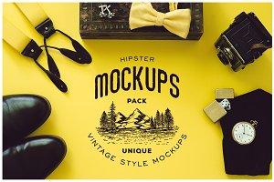 10 Hipster Mockups Pack