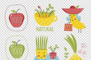 Organic labels and elements