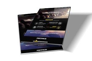 9 Web Site / Paper Mockup