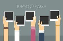 Empty photo frame.