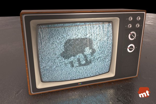 3D Electronics: Pixelwares - Vintage TV 3D Model