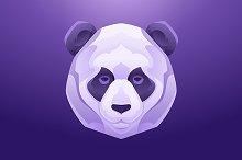 Panda Head Vintage label